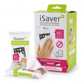 iSaver+ Desinfektions- und Reinigungstücher, Displaykarton mit 24 Spenderpackungen, 288 Tücher